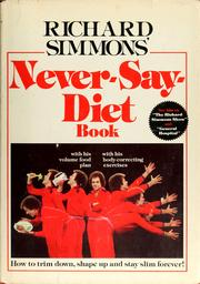 Cover of: Richard Simmons' Never-say-diet book