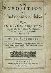 Cover of: An exposition of the prophesie of Hosea