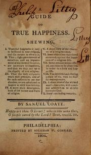 Cover of: A guide to true happiness...