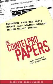 Cover of: The COINTELPRO papers by Ward Churchill