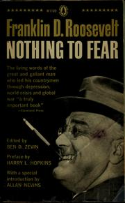 Cover of: Nothing to fear | Franklin D. Roosevelt