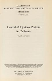 Cover of: Control of injurious rodents in California