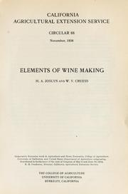Elements of wine making