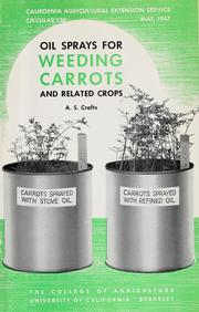 Cover of: Oil sprays for weeding carrots and related crops