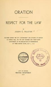 Cover of: Respect for the law