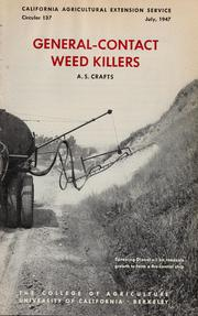 Cover of: General-contact weed killers