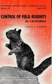 Cover of: Control of field rodents in California | John Muir
