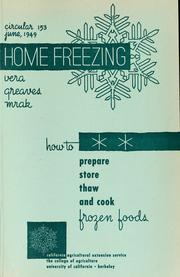 Cover of: Home freezing
