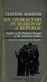 Cover of: Six characters in search of a Republic
