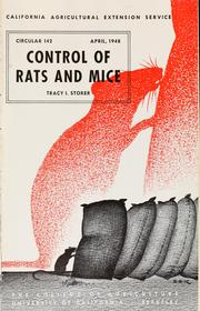 Cover of: Control of rats and mice