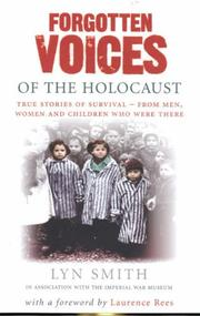 Cover of: Forgotten Voices of the Holocaust (Forgotten Voices/Holocaust)