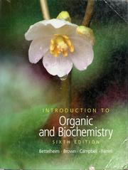 Cover of: Introduction to organic and biochemistry by Frederick A. Bettelheim