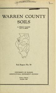 Cover of: Warren County Soils