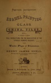 Cover of: Practical instructions in enamel painting on glass, china, tiles, etc | Henry James Snell