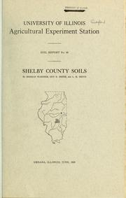 Cover of: Shelby County soils