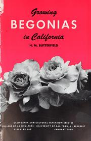 Cover of: Growing begonias in California