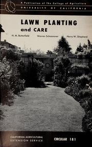 Cover of: Lawn planting and care