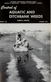 Cover of: Control of aquatic and ditchbank weeds