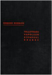 Talleyrand; Napoleon; Stendal; Grabbe