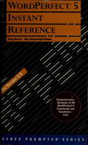 Cover of: WordPerfect 5 instant reference