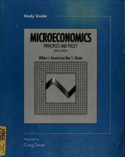 Cover of: Study guide to accompany Microeconomics | Craig Swan