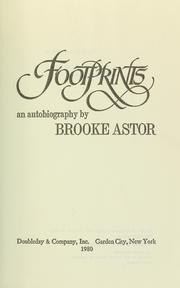 Footprints by Brooke Astor