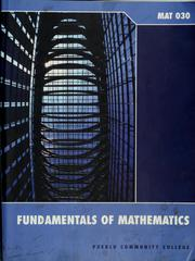 Cover of: Fundamentals of mathematics