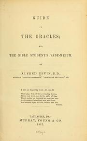 Guide to the oracles, or, The Bible students vade mecum