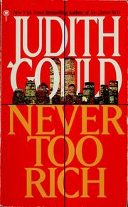 Cover of: Never too rich