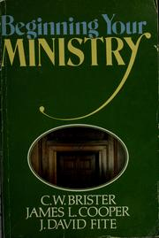 Cover of: Beginning your ministry