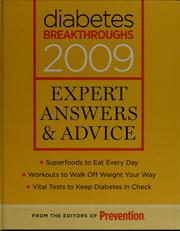 Cover of: Diabetes breakthroughs 2009 | Prevention (Firm : Emmaus, Pa.)