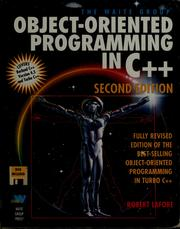 Cover of: The Waite Group's object-oriented programming in C[plus plus] | Robert Lafore