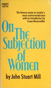 Cover of: On the subjection of women