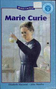 Cover of: Marie Curie | Elizabeth MacLeod