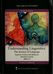 Cover of: Understanding linguistics
