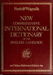 Cover of: Funk & Wagnalls new comprehensive international dictionary of the English language. |