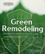 Cover of: Green remodeling | David Johnston