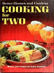 Cover of: Better homes and gardens cooking for two. |