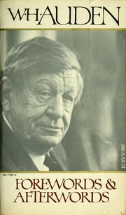 Cover of: Forewords and afterwords. by W. H. Auden