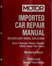 Cover of: Motor imported car repair manual 2001/2005 |