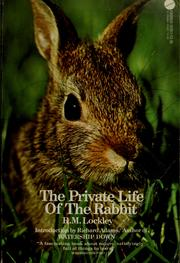 Cover of: The private life of the rabbit
