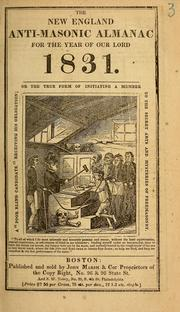 New England anti-Masonic almanac for the year of Our Lord 1832 by