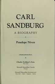 Cover of: Carl Sandburg