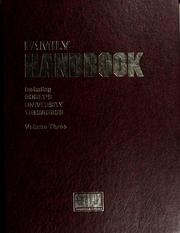 Cover of: Family handbook with Roget's university thesaurus