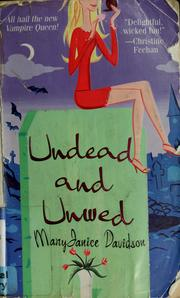 Cover of: Undead and unwed