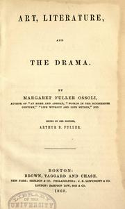 Cover of: Art, literature, and the drama