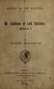 Cover of: Mr. Gladstone or Lord Salisbury