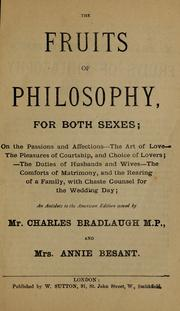 The fruits of philosophy, for both sexes by