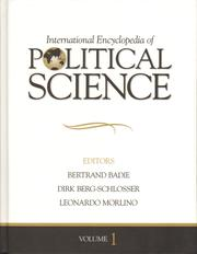 Cover of: International encyclopedia of political science