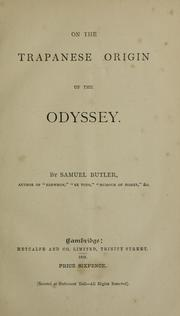 Cover of: On the Trapanese origin of the Odyssey
